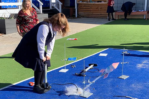 Our-Lady-of-Mercy-Burraneer-STEM-bottle-rockets-launch
